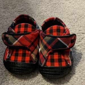 Nike plaid baby sneakers